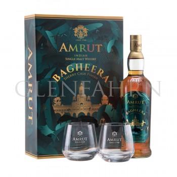 Amrut Bagheera Geschenkpackung mit 2 Gläsern Single Malt Indian Whisky