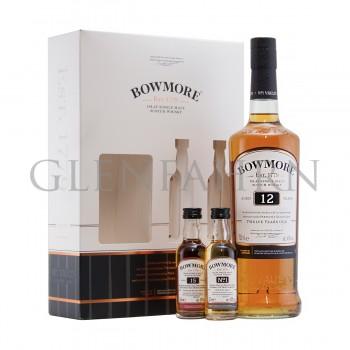 Bowmore 12y Geschenkpackung mit Miniatures 15y und No.1 70+5+5cl