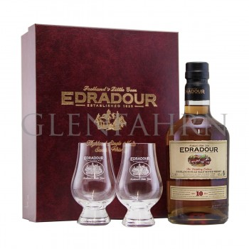 Edradour 10y Geschenkpackung mit 2 Gläsern