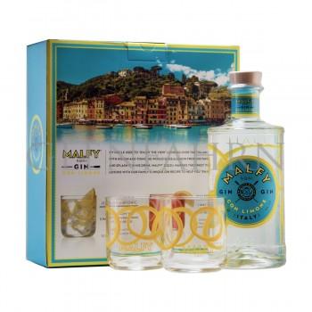 Malfy Gin con Limone Geschenkpackung mit 2 Gläsern