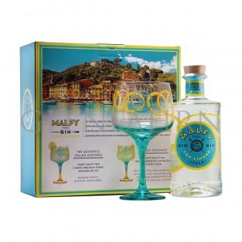 Malfy Gin con Limone Geschenkpackung mit 1 Copa Glas