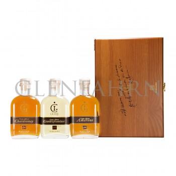 Marzadro Giare Amarone Gewürztraminer Chardonnay Grappa Geschenkpackung 3x 20cl