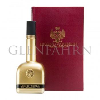 """Legend of Kremlin Vodka """"Buch"""" Geschenkpackung rot"""