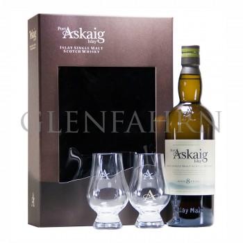 Port Askaig 8y Geschenkpackung mit 2 Gläsern
