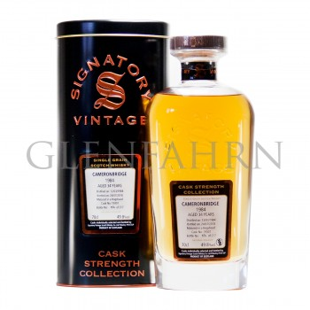 Cameronbridge 1984 34y Cask#19307 Cask Strength Collection Signator